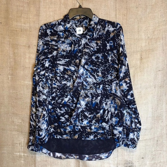 CAbi Tops - Cabi Top SZ M Floral Career Shirt Newer Square Tag